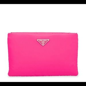 PRADA Neon Pink Clutch with chain